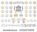 A set of illustrations that can be used for ranking. Pictogram-like icon set.