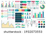 charts and diagrams. graphical... | Shutterstock .eps vector #1932073553