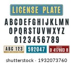 license car plates font....   Shutterstock .eps vector #1932073760