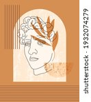 antique sculpture of david in a ...   Shutterstock .eps vector #1932074279