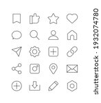 social media  sns line icons...   Shutterstock .eps vector #1932074780