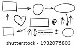 set of hand drawn arrows on... | Shutterstock .eps vector #1932075803