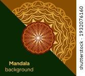 luxury mandala background with...   Shutterstock .eps vector #1932076160
