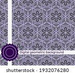 seamless vector decorative...   Shutterstock .eps vector #1932076280