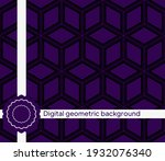 the geometric abstract pattern. ...   Shutterstock .eps vector #1932076340