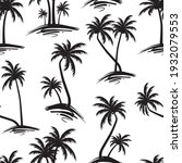 seamless black and white palm... | Shutterstock .eps vector #1932079553