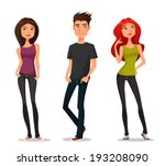 cute cartoon illustration of... | Shutterstock .eps vector #193208090