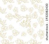 seamless patterns. beautiful...   Shutterstock .eps vector #1932082430