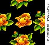 camellia exotic flower....   Shutterstock .eps vector #1932082433