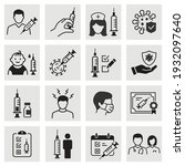 vaccine icons  such as covid ... | Shutterstock .eps vector #1932097640