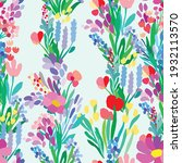 seamless pattern with flowers ...   Shutterstock .eps vector #1932113570