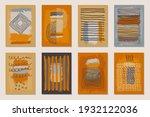 vector boho aesthetic wall art...   Shutterstock .eps vector #1932122036