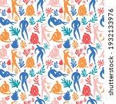 seamless pattern trendy doodle...   Shutterstock .eps vector #1932133976