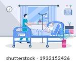 doctor or nurse in face mask... | Shutterstock .eps vector #1932152426