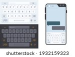 smartphone keyboard. numbers...