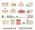 urban municipal houses.... | Shutterstock .eps vector #1932161663