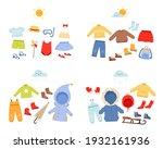 season wardrobe. casual clothes ... | Shutterstock .eps vector #1932161936