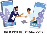 two man complete business deal... | Shutterstock .eps vector #1932170093