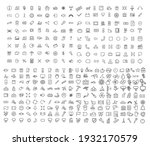icons collection with 326 items.... | Shutterstock . vector #1932170579