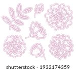 stylized rose flowers with... | Shutterstock .eps vector #1932174359