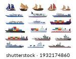 set of maritime ship... | Shutterstock .eps vector #1932174860