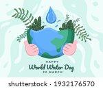 world water day design... | Shutterstock .eps vector #1932176570