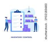 flat design of inventory...