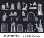 Cartoon Icons Set With Old...