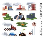 city air and water pollution...   Shutterstock .eps vector #1932190403