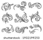 baroque scroll as element of... | Shutterstock .eps vector #1932199253