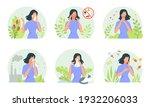 allergy manifestations set....   Shutterstock .eps vector #1932206033