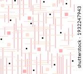 seamless pattern. pink  peach... | Shutterstock . vector #1932247943