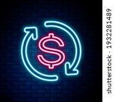 glowing neon line return of... | Shutterstock .eps vector #1932281489