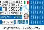 italy car license plate ... | Shutterstock .eps vector #1932282959