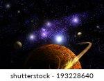 planet deep in space  galaxy...   Shutterstock . vector #193228640
