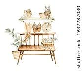 Watercolor Boho Nursery Set....