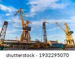 Port Cranes On The Territory Of ...