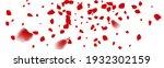 the rose confetti on white... | Shutterstock .eps vector #1932302159