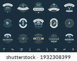 seafood logos or signs set... | Shutterstock .eps vector #1932308399