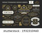 vintage typographic decorative... | Shutterstock .eps vector #1932310460