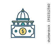 state funding rgb color icon.... | Shutterstock .eps vector #1932312560