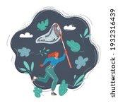 cartoon vector illustration of... | Shutterstock .eps vector #1932316439
