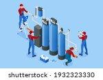 isometric installing or... | Shutterstock .eps vector #1932323330
