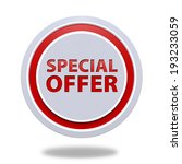 special offer circular icon on... | Shutterstock . vector #193233059