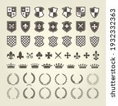 kit of coat of arms for knight... | Shutterstock .eps vector #1932332363