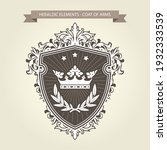 coat of arms   medieval... | Shutterstock .eps vector #1932333539