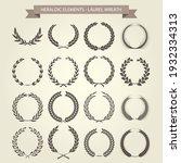 laurel wreaths set in different ... | Shutterstock .eps vector #1932334313