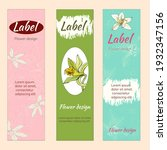 floral bookmarks  tags for... | Shutterstock .eps vector #1932347156