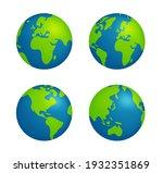 simplified earth globe vector... | Shutterstock .eps vector #1932351869