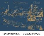 rural scenery landscape...   Shutterstock .eps vector #1932369923